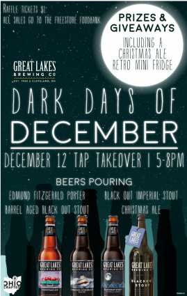 Dark Days of December at Zips Cafe | Great Lakes Brewing Company