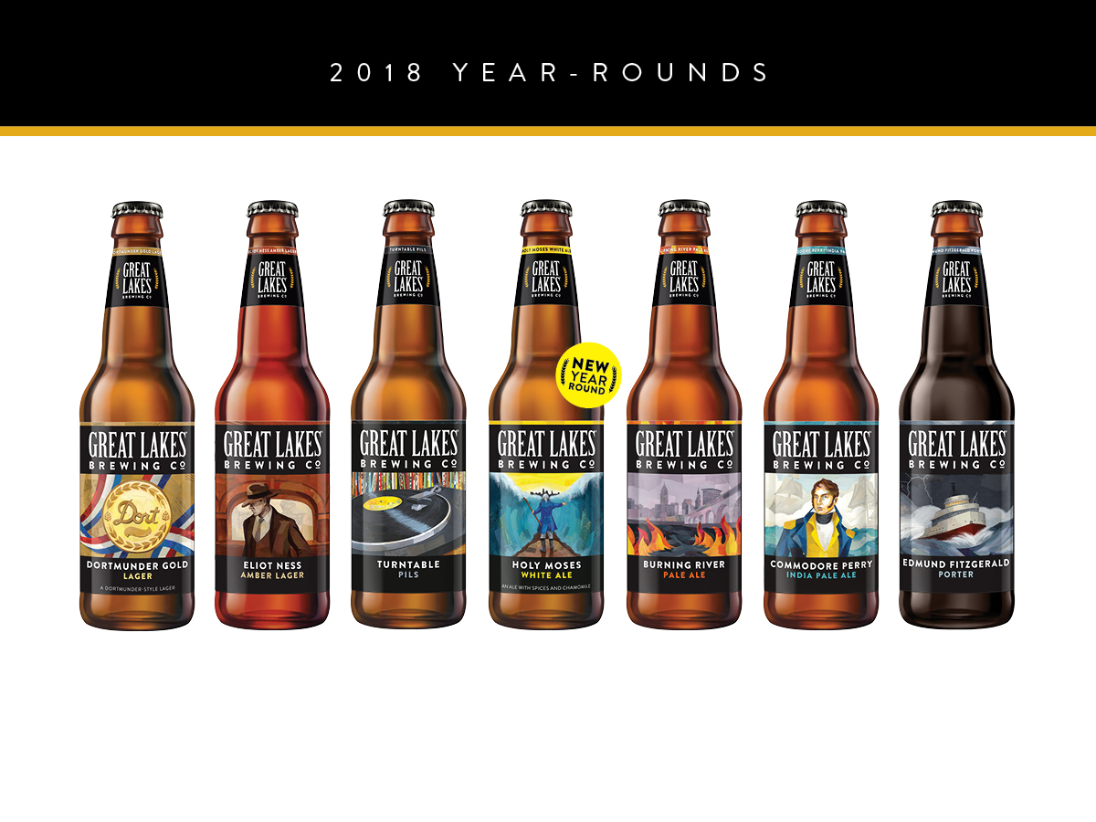 great lakes brewing company glbc announces a fresh lineup for its 30th year including the return of holy moses white ale two new seasonals can 6 packs - Christmas Ale Recipe